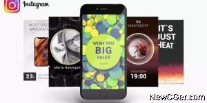 70款精心设计的Instagram Stories版式动画集AE模板,另附背景等内容