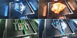 带标志铁门的开关动画特效AE模板,可做转场