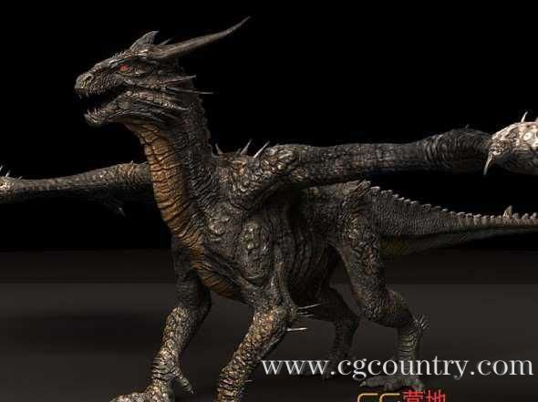 石头龙3D模型 Cubebrush – Stone Dragon Maya Rig