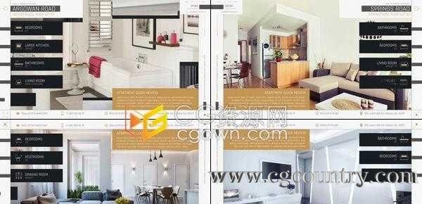 房地产住宅办公室酒店公寓样板房销售介绍视频室内装修包装宣传-AE模板
