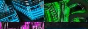 数字科技感发光霓虹灯3D标志演绎动画AE模板